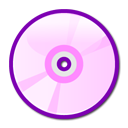 Cd, Disc, Dvd, Pink icon