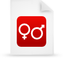 paper, document, red, file icon