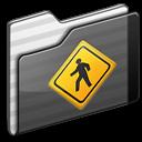 folder, black, public icon