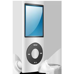 nano, silver, ipod, silver on icon