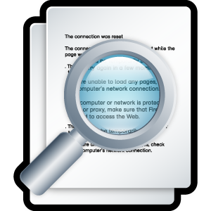file, paper, zoom, search, document, seek, find, preview, docment icon