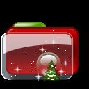 Christmas Folder Tree Stars icon