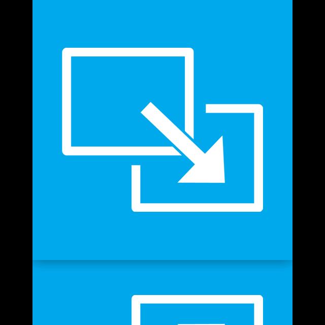 full, mirror, exit, screen icon
