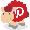 sheep, pinterest, social network icon