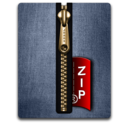 zip,gold,blue icon