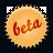 beta, splash, orange icon