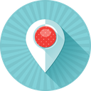 pin, coordinates, location, marker, map, address, gps icon