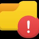 folder, alert icon