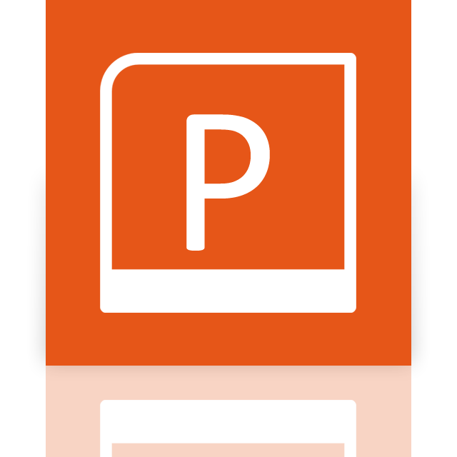 powerpoint, mirror icon