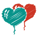 scribble, love, baloon, heart, party, romance, balloon icon