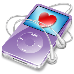 video, favorite, violet, ipod icon