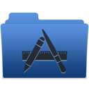 smooth navy blue apps 1 icon