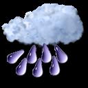 rain, heavy icon