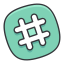 online, internet, social, media, hashtag, network icon