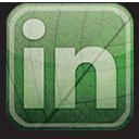 green, linkedin, eco icon