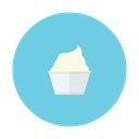 vanilla, dessert, cream, ice, cup icon