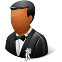 dark, bridegroom, wedding icon
