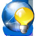 network, serv, jabber, serv on, internet, light bulb icon