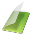paper, file, vert, vide, document icon