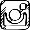 Instagram sketched logo icon