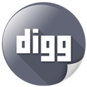 digg, internet, communication, logo, media, message icon