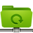 green, folder, backup, remote icon