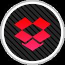 dropbox, social, online, media icon
