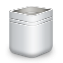 trash, empty, recycle bin, blank icon