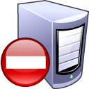 computer, del, remove, server, delete icon