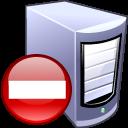 computer, del, remove, server, delete icon