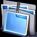 folders, strap, folder icon
