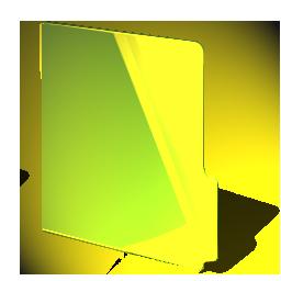 folder, yellow, closed icon