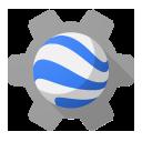 engine, earth icon
