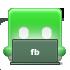 laptop, facebook icon