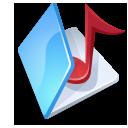 Folder music blue icon