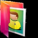 Aurora, Folders, texto, Pictures icon