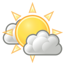 few, clouds, weather icon