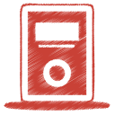red mp3 player icon