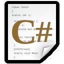 sharp, c, code, file, document icon