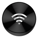 Airdrop, Black icon