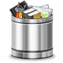 recycle bin, full, trash icon