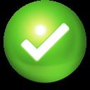 check, ball icon