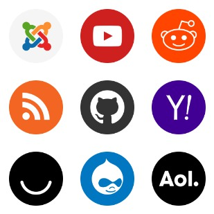 Popular Services & Brands icon sets preview