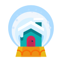 decoration, decorate, cabin, home, house, snowglobe icon