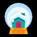 decoration, decorate, cabin, home, house, snowglobe icon