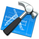 hammer, blueprint, build, development, xcode, tool, develop, developing icon