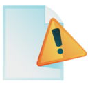 document,warning,file icon