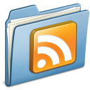 blue,rss,subscribe icon