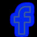 set, media, neon, social, facebook icon