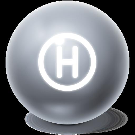 bright, ball, help icon